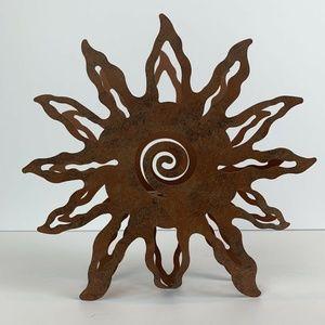 Rustic Metal Sun Napkin Holder